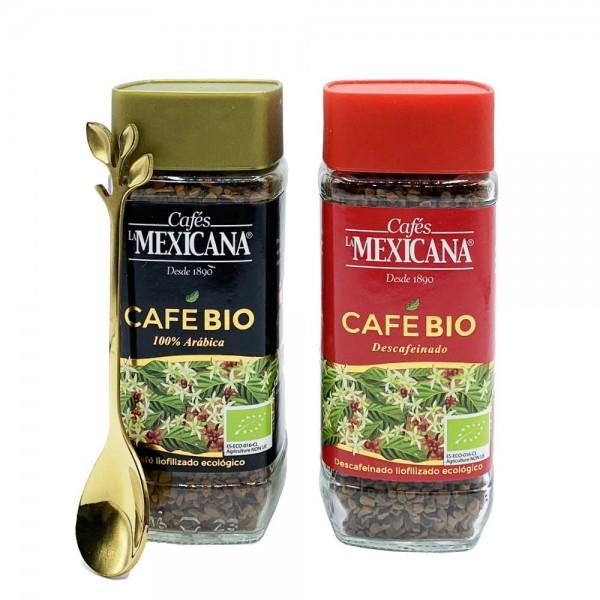 Pack Regalo Café BIO Soluble Natural y Descafeinado
