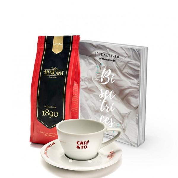 Café + Libro de Poemas Bisectrices + Taza