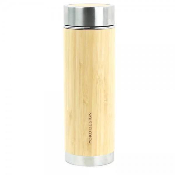 Botella Termo con Infusor Bambú