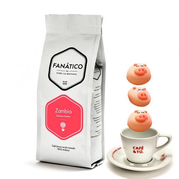 Zambia + merengues cerditos + Taza Espresso