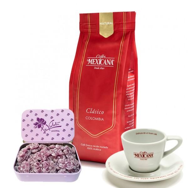 Caramelos La Violeta + café + taza espresso