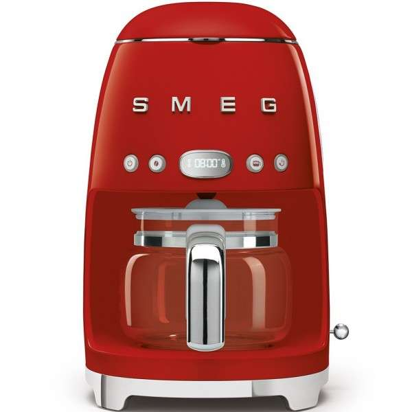 Cafetera de Goteo Roja de diseño retro SMEG