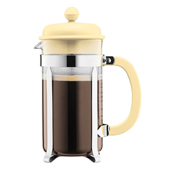 Cafetera de émbolo 8 tazas amarillas