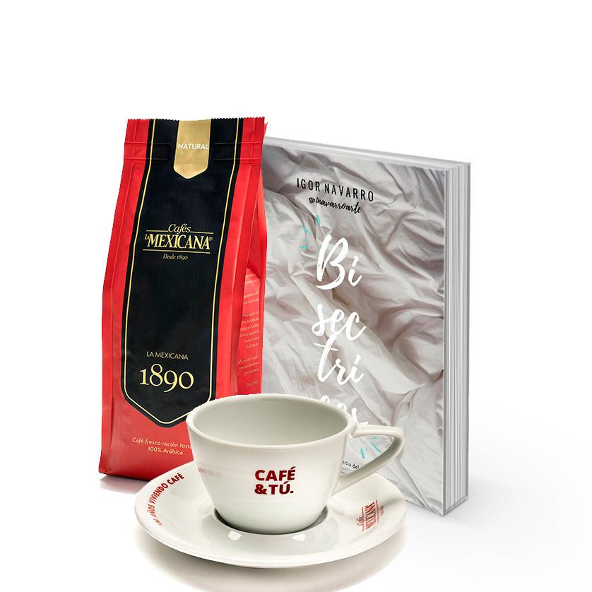 libro de poemas + café natural + taza La Mexicana