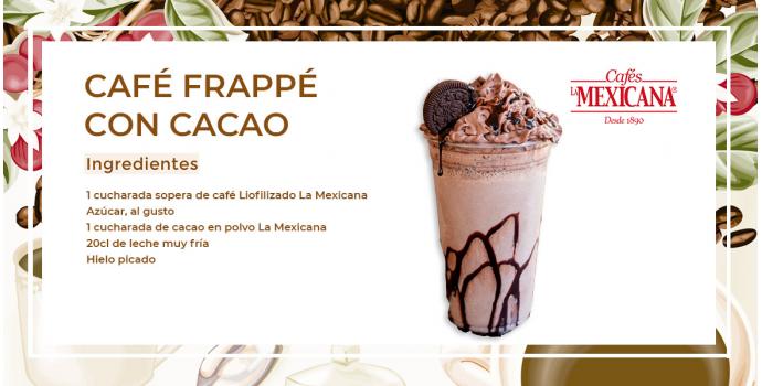 Receta de café frappé con cacao