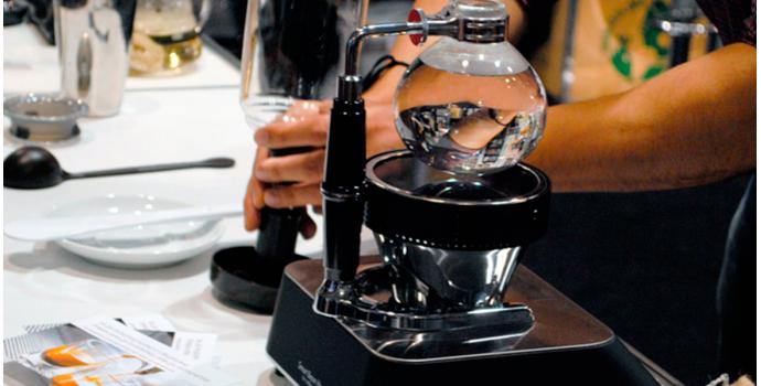 Cafetera de vacío, de sifón o cona