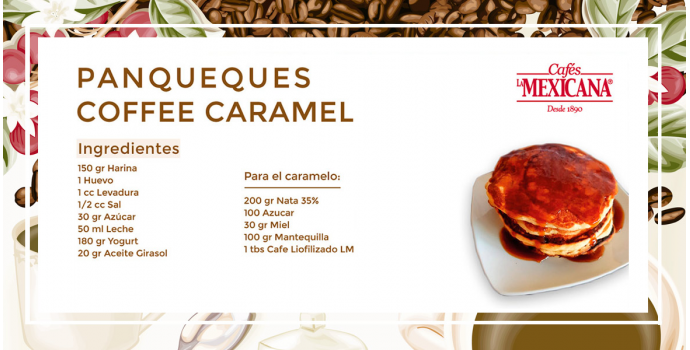 Panqueques coffee caramel